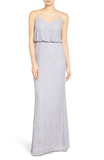 Adrianna Papell Lace Blouson Gown