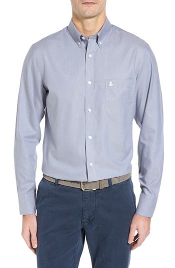Nordstrom Shop Smartcare(TM) Oxford Sport Shirt, Blue