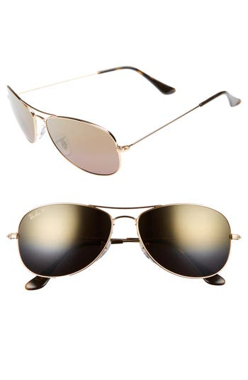 Men's Ray-Ban 59Mm Polarized Aviator Sunglasses -