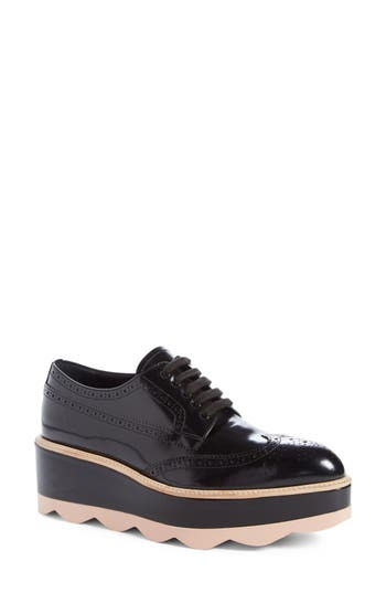Women's Prada Scalloped Platform Oxford