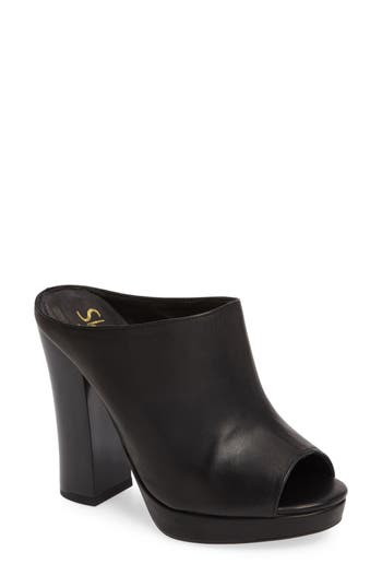 Shellys London Trent Peep-Toe Platform Mule