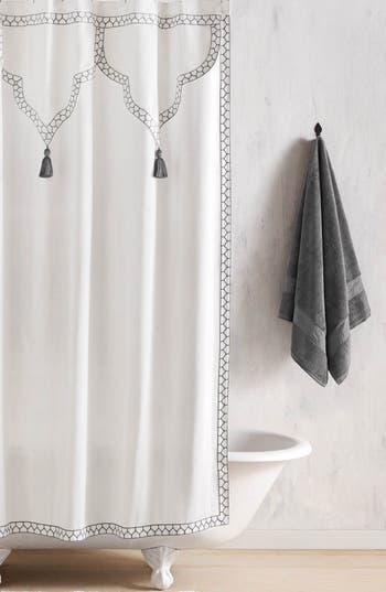 John Robshaw Iswar Shower Curtain, Size One Size - Grey