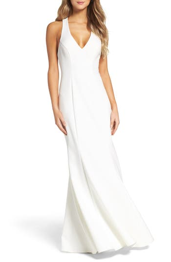 Xscape T-Back Mermaid Gown