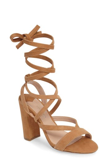 Women's Tony Bianco Kappa Ankle Wrap Sandal, Size 5 M - Beige