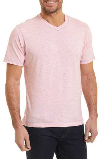 Robert Graham Traveler V-Neck T-Shirt, Pink