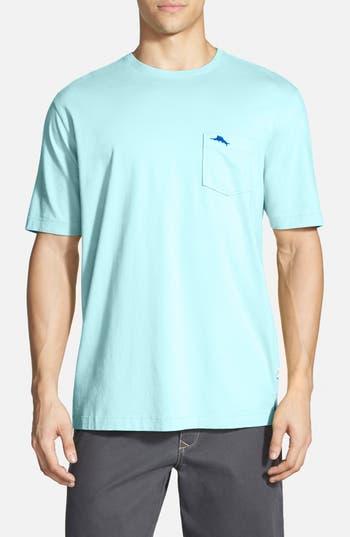 Big & Tall Tommy Bahama New Bali Sky Pima Cotton Pocket T-Shirt, Blue