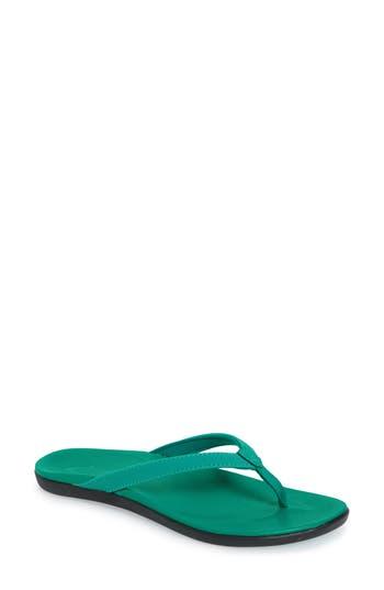 Women's Olukai 'Ho Opio' Flip Flop, Size 5 M - Green