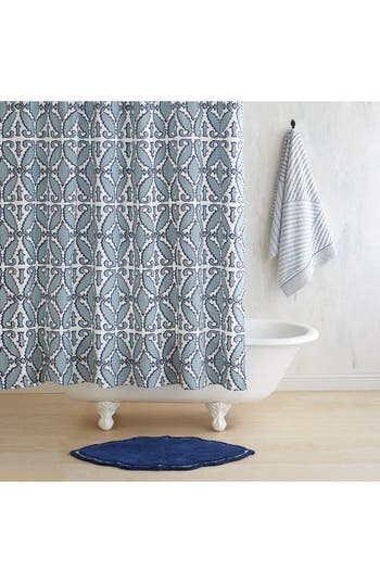 John Robshaw Khoma Shower Curtain, Size One Size - Blue
