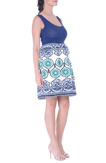 Olian Print Maternity Dress