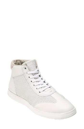 Cole Haan Grandpro High Top Sneaker, White