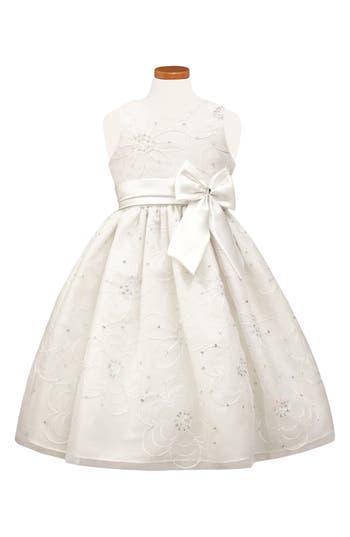 Girls Sorbet Floral Satin Fit  Flare Dress