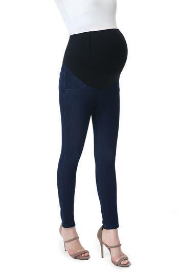 Kimi & Kai Lenora Maternity Leggings, Blue