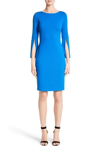 St. John Collection Split Sleeve Milano Knit Dress