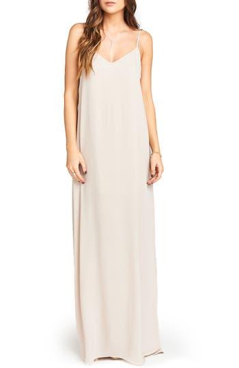 Women's Show Me Your Mumu Jolie Gown, Size Large - Beige