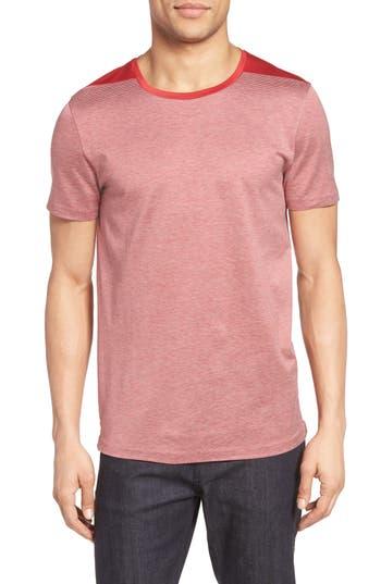 Boss Tessler Stripe Mercerized Cotton T-Shirt, Red