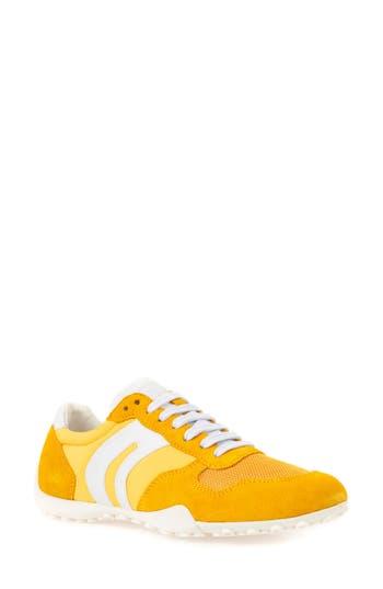 Women's Geox Snake Sneaker, Size 6US / 36EU - Yellow