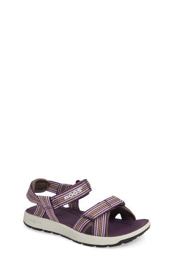 Girl's Bogs Rio Stripe Sandal, Size 3 M - Purple
