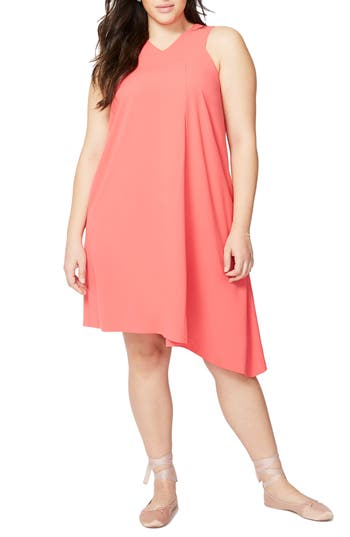 Plus Size Rachel Rachel Roy Pleat Front Shift Dress, Pink