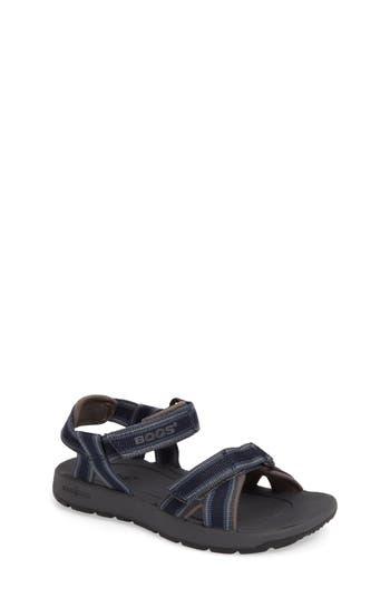 Boy's Bogs Rio Stripe Sandal, Size 13 M - Blue