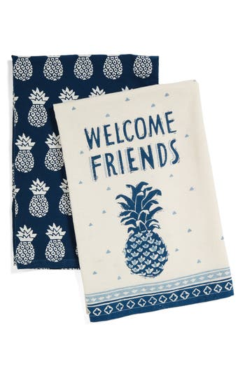 Primitives By Kathy Welcome Friends Set Of 2 Dish Towels