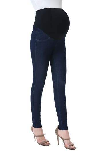 Sadie Over The Belly Maternity Denim Leggings