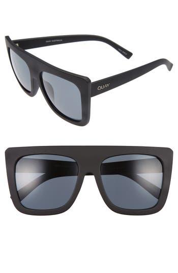 Quay Australia Cafe Racer 55Mm Square Sunglasses - Black/ Smoke
