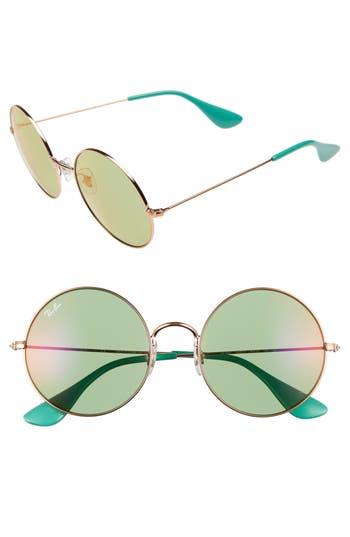 Ray-Ban The Ja-Jo 55Mm Round Sunglasses - Gold/ Green
