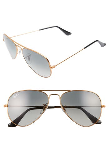 Ray-Ban Small Original 55Mm Aviator Sunglasses - Bronze