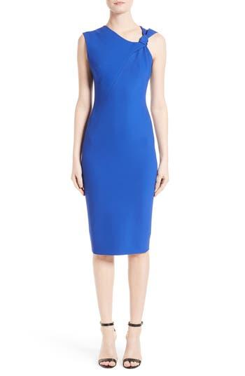 Victoria Beckham Knotted Rib Jersey Dress, US / 10 UK - Blue