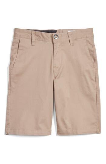 Boys Volcom Cotton Twill Shorts Size 29  Beige