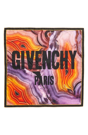 Women's Givenchy Flame Mineral Silk Square Scarf