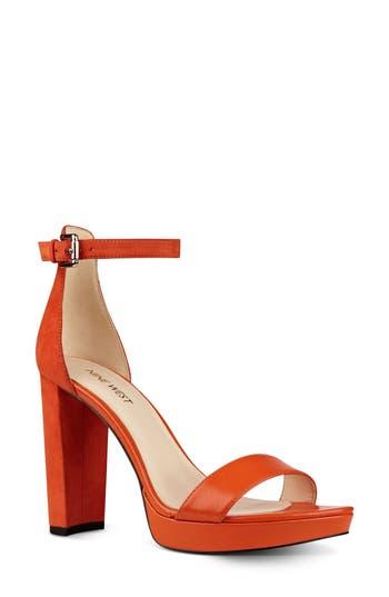 Women's Nine West Dempsey Platform Sandal, Size 5.5 M - Orange