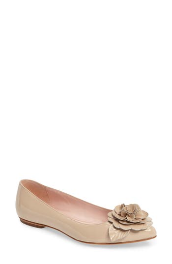 Kate Spade New York Ellie Pointy Toe Flat, Beige