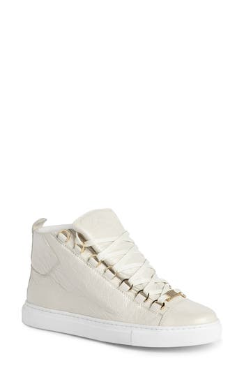 Balenciaga High Top Sneaker, Ivory
