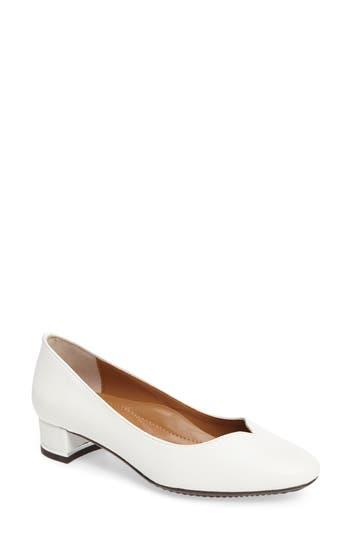 J. Renee Bambal Block Heel Pump, White