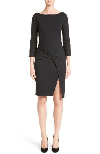 Armani Collezioni Grommet Detail Milano Jersey Dress, Black