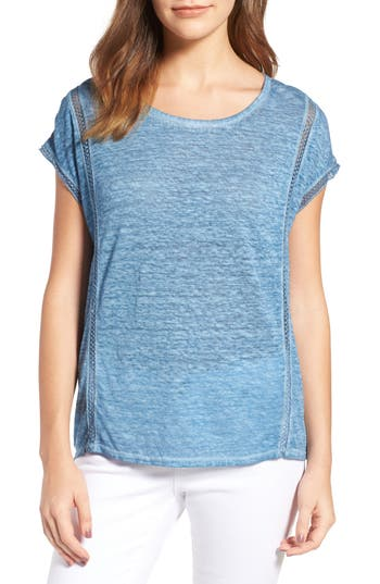 Two By Vince Camuto Linen Tee, Blue