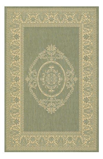 Couristan Antique Medallion Indoor/outdoor Rug, ft 0in x 3ft 7in - Green