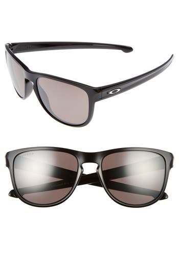 Oakley Sliver(TM) Prizm(TM) 57Mm Polarized Sunglasses - Black/ Prizm Polar