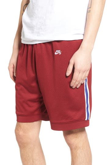 Nike Sb Dry Training Shorts, Red