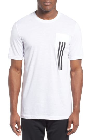 Adidas 3-Stripes Pocket T-Shirt