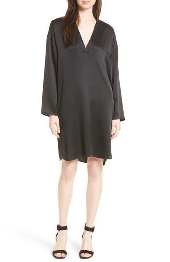 Vince Silk Tunic Dress, Black