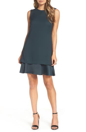 Chelsea28 Tiered Shift Dress, Green