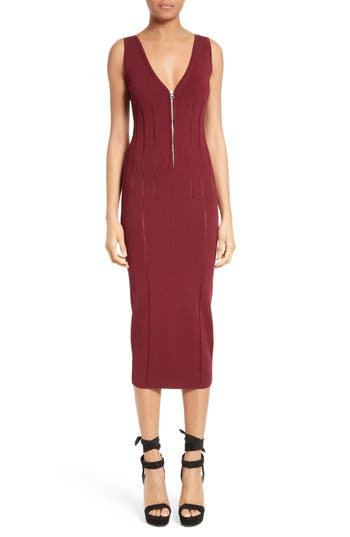Mcq Alexander Mcqueen Body-Con Dress, Red
