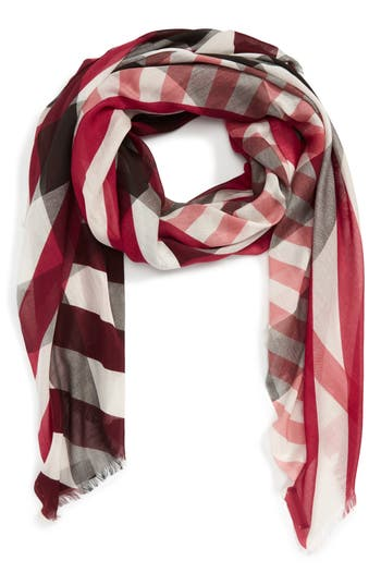 Women's Burberry Stripe & Check Scarf