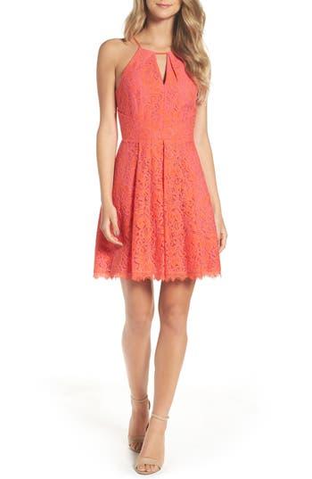 Women's Adelyn Rae Renee Lace Fit & Flare Dress