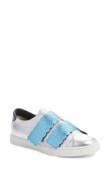 Fendi Scallop Sneaker, Metallic