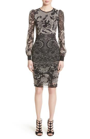 Fuzzi Tulle Sheath Dress, Black