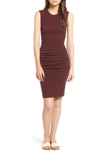 James Perse Ruched Tank Dress, Purple