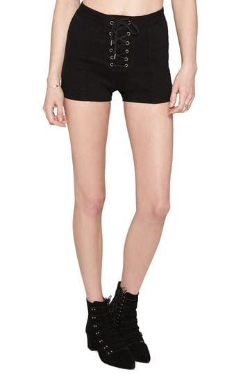 Women's Amuse Society Daisy Chain High Waisted Denim Shorts